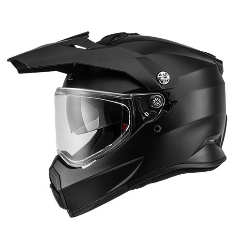 [SOL] SS-2P 솔리드 무광블랙 온오프로드 듀얼 풀페이스 헬멧