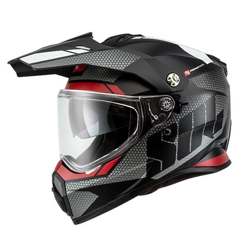 [SOL] SS-2P 램블러 무광 블랙/실버/레드 온오프로드 듀얼 풀페이스 헬멧