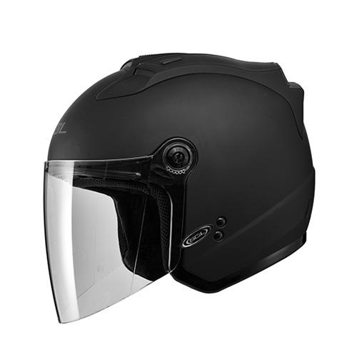 [SOL] 27S 솔리드 무광블랙 LED 오픈페이스 헬멧
